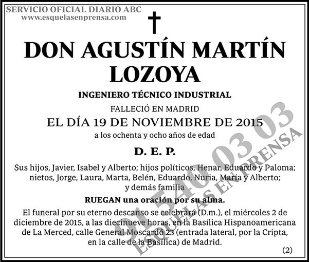 Agustín Martín Lozoya